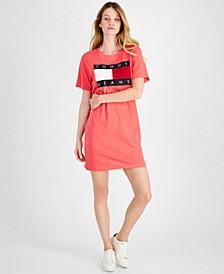 Short Sleeve Flag Tee Dress