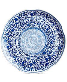 "Q Squared Heritage Melamine 16"" Round Hammered Platter"
