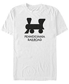 Men's Pen Railroad Short Sleeve Crew T-shirt