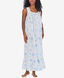 Cotton Lace-Trim Ballet Nightgown