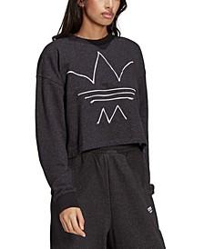 Women's Cropped Trefoil Sweatshirt