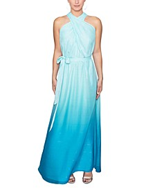 Ombré Chiffon Maxi Dress