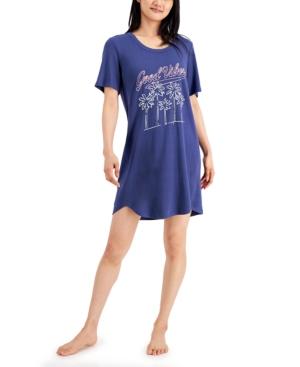 Short Sleeve Printed Sleep Shirt