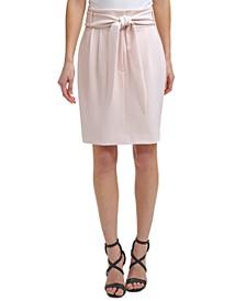 High-Rise Tie-Waist Skirt