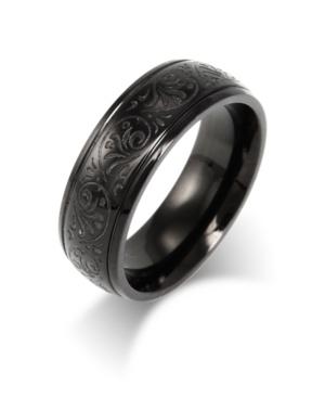 Men's Stainless Steel Carved Design Ring