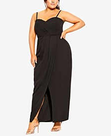 Plus Size Sweet Drape Maxi Dress