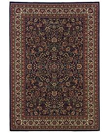 Oriental Weavers Ariana 113B Sarouk Navy Area Rug 4' x 6'