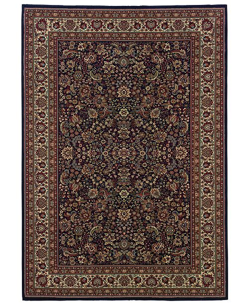 """Oriental Weavers Ariana 113B Sarouk Navy Runner Rug 2'3"""" x 7'9"""""""
