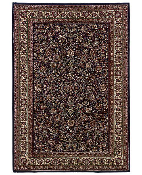 Oriental Weavers Ariana 113B Sarouk Navy Area Rug 2' x 3'