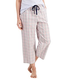 Cotton Woven Cropped Pajama Pants, Created for Macy's