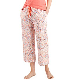 Cotton Knit Cropped Pajama Pants, Created for Macy's