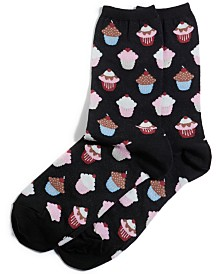Hot Sox Women's Cupcake Fashion Crew Socks