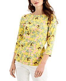 Cotton 3/4-Sleeve Top, Created for Macy's