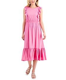 Petite Ruffled Knit Midi Dress, Created for Macy's