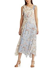 Floral Crinkled Georgette Dress