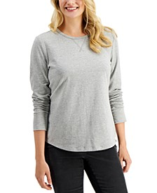 Textured Crewneck Top, Created for Macy's