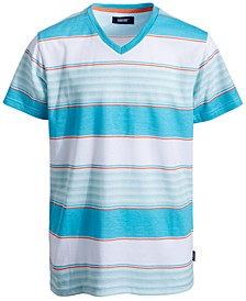 Big Boys Moore Rugby Striped T-Shirt
