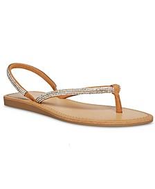 Aurra Rhinestone Thong Sandals