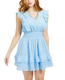 Aisha Ruffled Eyelet Dress