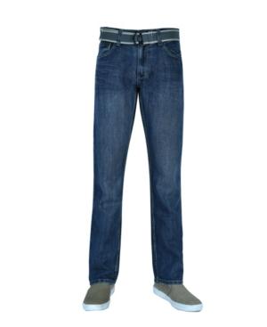 Men's Straight Leg Belted Jeans