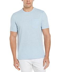 Men's Textured Slub Short Sleeve Crew Neck Tee Shirt
