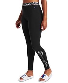 Women's Double Dry Printed-Logo Leggings