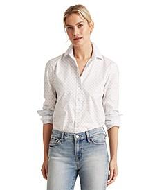 Polka-Dot Easy-Care Shirt