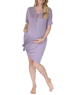Women's Mama Hospital Nightie and Baby Pouch Set