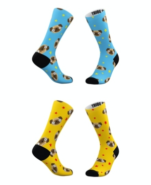 Tribe Socks Socks MEN'S AND WOMEN'S PUGMOJI SOCKS, SET OF 2