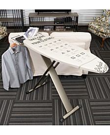European Ironing Board with Retractable Iron Rest