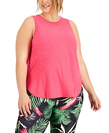 Plus Size Sweat Set Tank, Created for Macy's