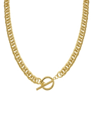 Toggle Curb Chain Collar Necklace