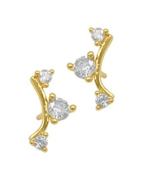 Studded Climber Earrings