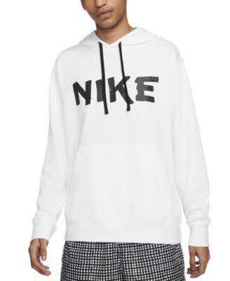 나이키 맨 후디 Nike Mens Sportswear Club Tape Logo-Print French Terry Fleece Hoodie
