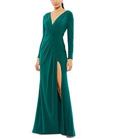 High-Slit Evening Gown