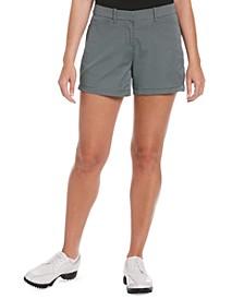 Women's Grid-Print Golf Shorts