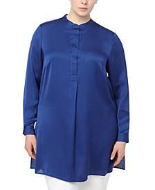 Plus Size Charmeuse Tunic