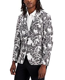 Men's Classic-Fit Mod Palm Jacquard Blazer, Created for Macy's