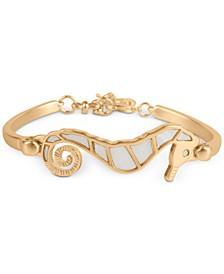 Seahorse Inlay Bangle Bracelet