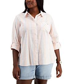 Plus Size Solana Striped Top