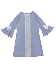 Toddler Girls Crochet Seersucker Shift Dress