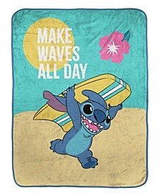"Make Waves All Day Baby Raschel Throw, 55"" x 43.5"""