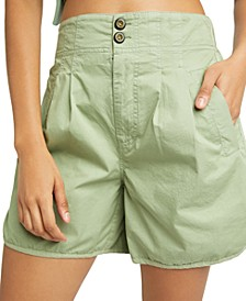 Cotton Pleated Shorts