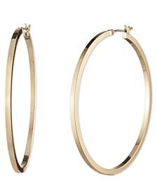 "Medium Flat-Edge Hoop Earrings, 2"""