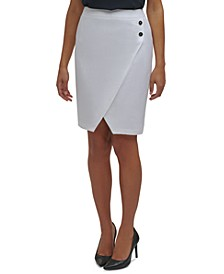 Petite Asymmetrical-Hem Pencil Skirt