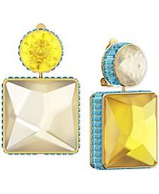 Gold-Tone Crystal Mismatch Drop Earrings