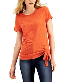 INC Ruched T-Shirt, Created for Macy's