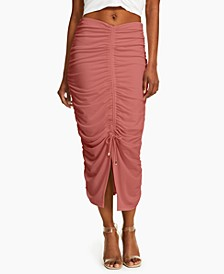 INC Ruched Midi Skirt, Created for Macy's