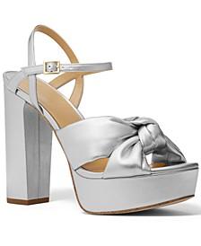 Josie Knotted Platform Dress Sandals