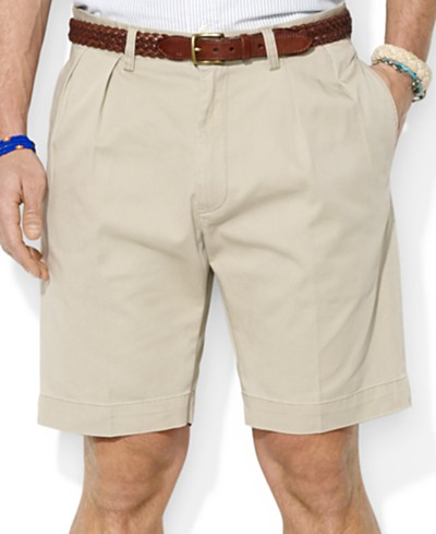 Polo Ralph Lauren Men's Core 9 Classic-Fit Pleated Chino Shorts